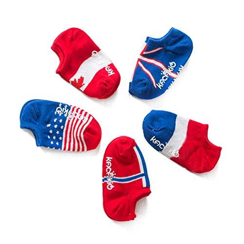 ZUMUii Butterme Chaussettes en Coton Chaussettes en drapeau Chaussettes Mixte bébé - 5 Paries - bébé Toddlers