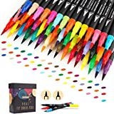 GC 72色セット 筆ペン 水彩毛筆 線画ペン 水性ペン カラーペンセット クリーンカラー 塗り絵 オフィス用品 筆記具 JP72