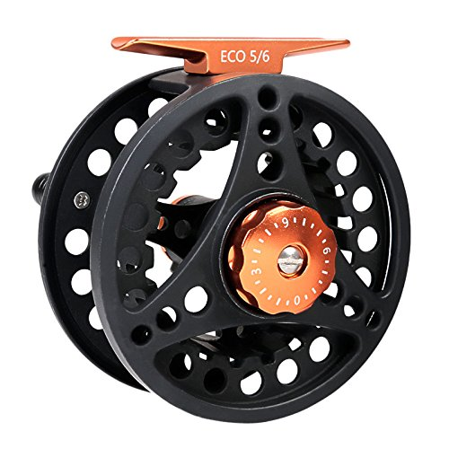 M MAXIMUMCATCH Maxcatch ECO Fly Reel Large Arbor with Aluminum Body (3/4wt 5/6wt 7/8wt) (Black ECO Reel, 5/6 Weight)