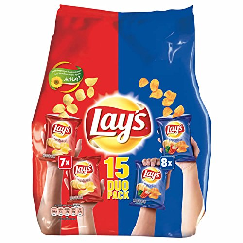 Lays Chips 15 Duo Pack 440g paprika naturel gesalzene chips