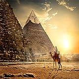 GEEBIRD DIY Pintura Regalo Pirámides egipcias,Pintar por Numeros para Adultos Niños 40x50cm preimpreso Lienzo de Pintura al óleo Living Room Arte de la Pared decoración