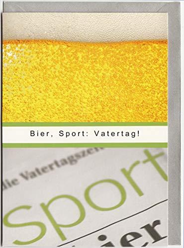 Vatertagskarte Bier Sport Vatertag