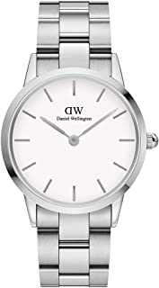 Daniel Wellington Japanese Quartz Watch with Stainless Steel Strap, Silver, 18 (Model: DW00100203)