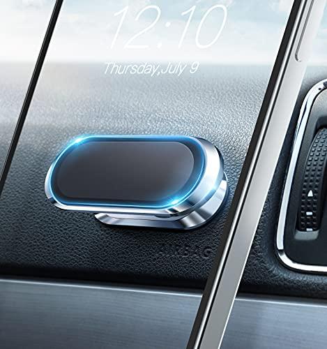 Soporte Magnético Móvil Coche Soporte Movil Coche Accesorios Coche Compatible con Smartphone/iPhone/Samsung/Huawei, etc. (Plata)