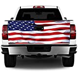 Truck Tailgate Wrap American Flag HD Decal...
