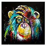 WYLJD Puzzles 1000 Piezas 75*50cm Mono Arte Abstracto Animales Art Pinturas Decoración Imagen para Niños Habitación