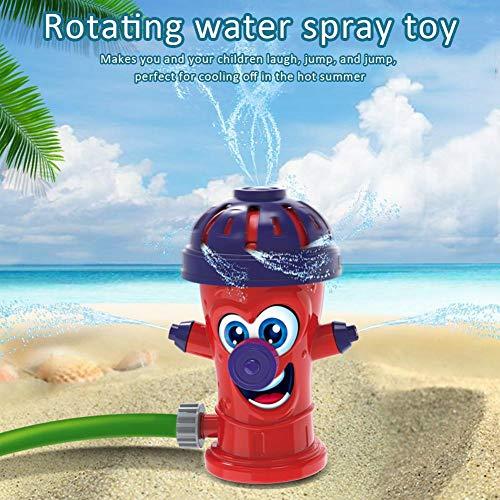 Yunhigh-uk Kinder Feuer Hydrant Sprinkler Spielzeug, rotierende Spritzspielzeug für Kinder Familiengarten Sommer im Freien