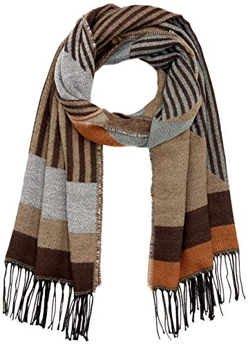 PIECES Damen PCBELINA LONG SCARF NOOS Schal, Detail:Pattern W Stripe-Graphical/Jadeite, ONE SIZE