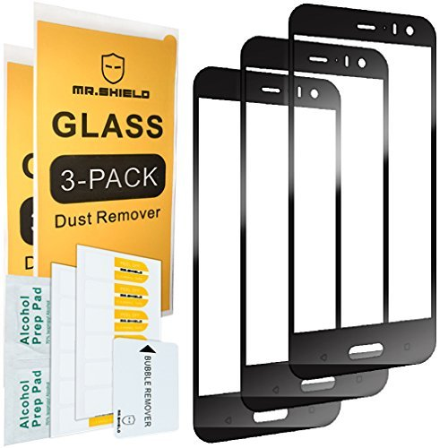 [3-PACK]- Mr Shield For HTC U11 Life [Tempered Glass][Full Cover] Screen Protector [Japan Glass With 9H Hardness] with Lifetime Replacement Warranty