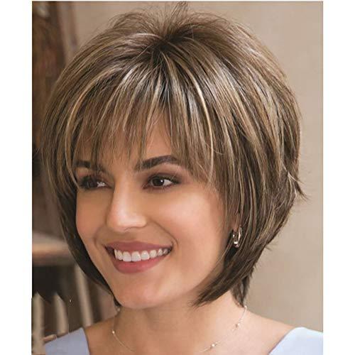 Pelucas de pelucas de pelucas sintéticas lanosas de pelo corto (9 pulgadas)