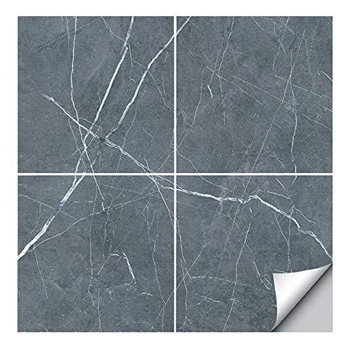 ASFINS Fliesenaufkleber Boden 30x30, 4 Stück Bodenfliesen Selbstklebend Fliesenfolie Fliesensticker für Küche Badezimmer Wohnzimmer Wasserdicht Leicht zu Reinigen (D01)