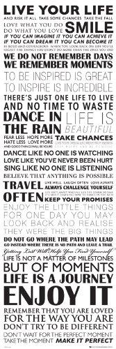 GB eye Puerta Poster con diseño Live Your Life, 53 x 158 cm