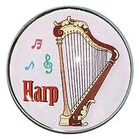 ピンバッジ ハープ 楽器 ピンバッジ ピンバッチ ハープ