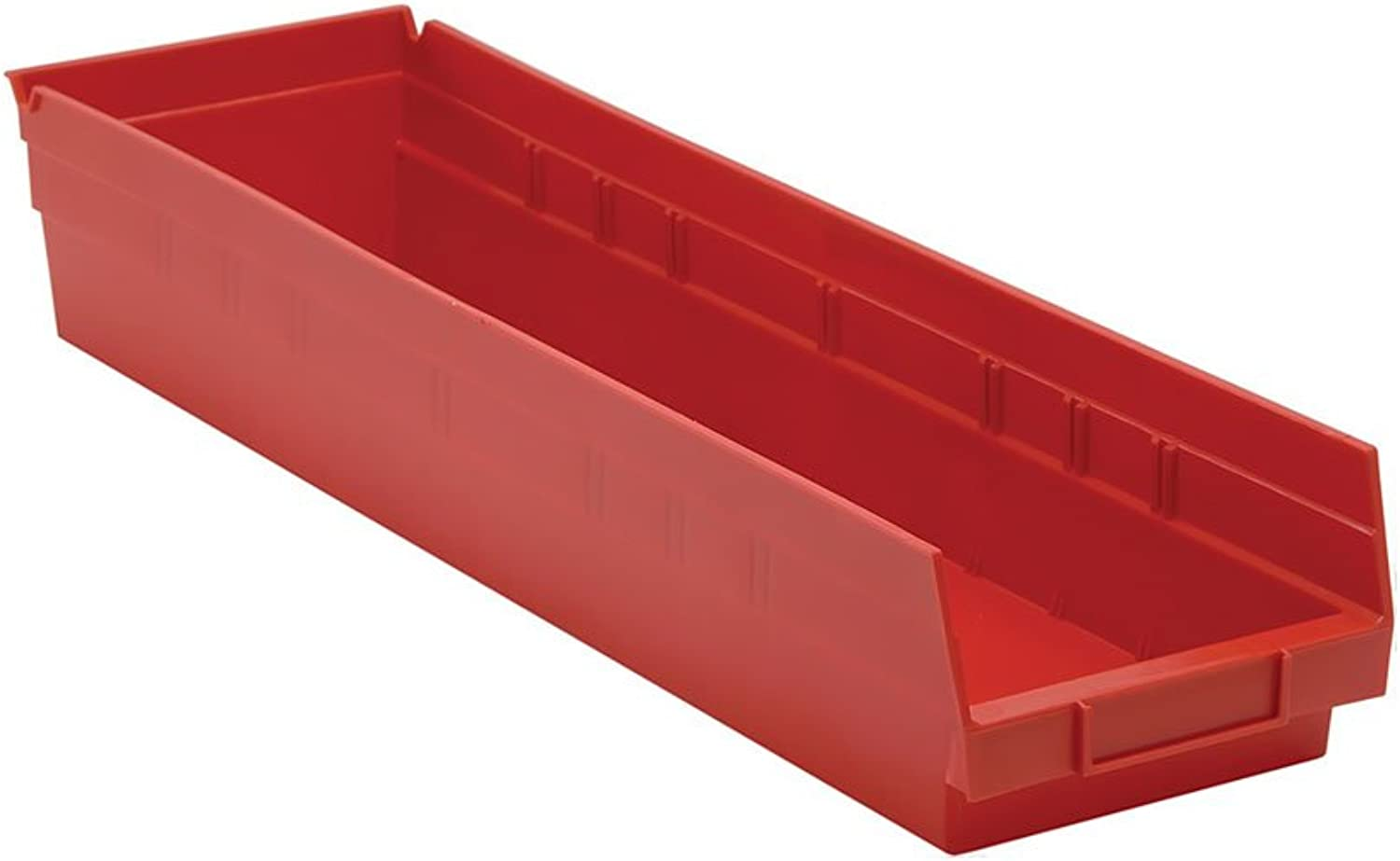 Quantum Storage Systems Economy Shelf Bin 23-5 8 Lx 6-5 8 Wx 4 H Red Pack Of 8