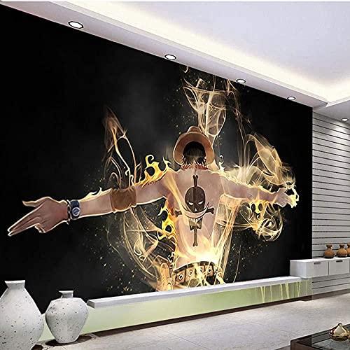 Tapete 3D Wandbild Manga Ein Stück Lu Fei Fototapete 3D Effekt Vliestapete Wohnzimmer Schlafzimmer Wanddeko 350cmX250cm