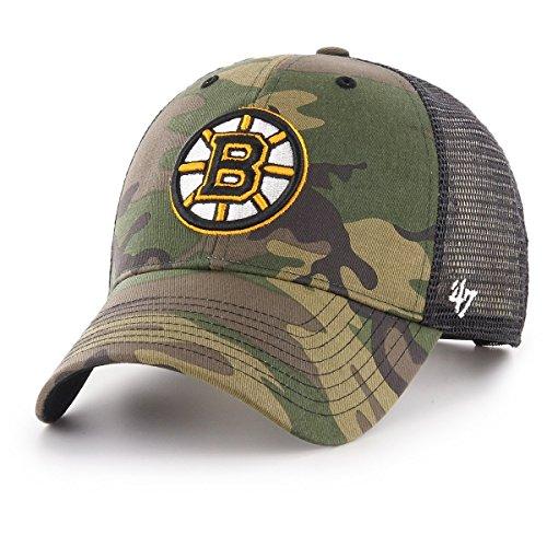 47Brand Branson Trucker MVP Snapback Cap Boston Bruins H-CBRAN01GWP-CM Camouflage, Size:ONE Size