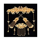 Chinese Ancient Bridal Hair Ornaments Wedding Hair Styling Earrings Sets Accessories Hairpin, 04
