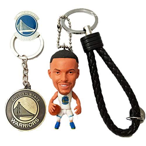 Cradifisho – Llavero de muñeca con estrella de la NBA, muñeca de baloncesto, muñeca de baloncesto artesanal, zakka NBA, resina(Curry)