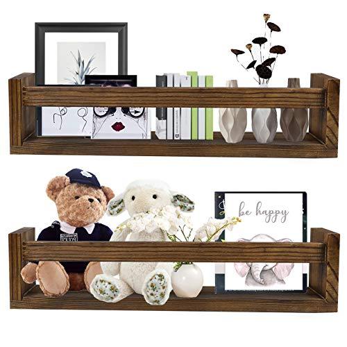 JOLIGAEA 2 Stück Wandregal, Schwebende Regale aus Holz, Gewürzregal 41 cm Lang, Wand Dekoration für Badregal, Wohnzimmer, Aufbewahrungs Badezimmer, Kinderzimmer. Ideal für Bücher und Spielzeug