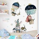 AGQG Cartoon Boy Girl Gemälde für Babyzimmer Wandaufkleber Kinderzimmer Poster und Drucke Wandkunst