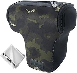 Camuflaje marrón Cámara Reflex Neopreno Protectora para Canon EOS Rebel T7 T7i T6i T6 Kiss X9i X9 EOS 2000D 4000D 800D 250D 77D 760D 750D 1300D 1200D 9000D 700D 650D 1000D 1100D 550D with 18-55mm