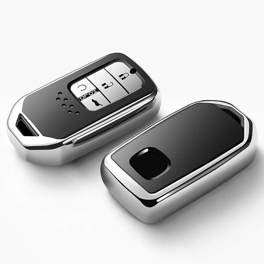 Red Key Fob Case for Honda Accord Civic CRV Pilot Odyssey Smart Premium Soft TPU Full Cover Protection Smart Remote Keyless Key Fob Shell 121Fruit Way for Honda Key Fob Cover