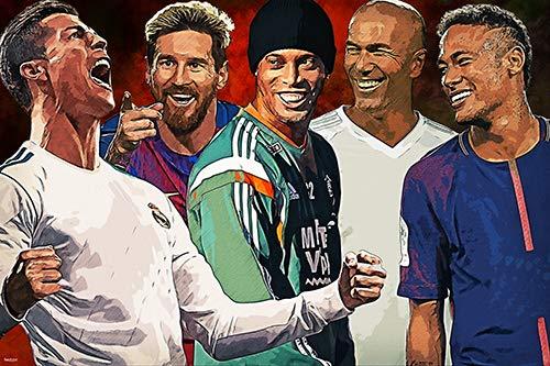 Top Soccer Players Poster 24x36 Football Home Decor Print