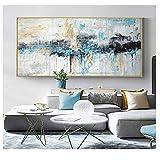 XIANGPEIFBH Arte Abstracto Pintura Moderna impresión Lienzo Mural Pintura Grande decoración Mural 50x120cm sin Marco