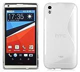 Cadorabo Hülle für HTC Desire 816 in HALB TRANSPARENT –