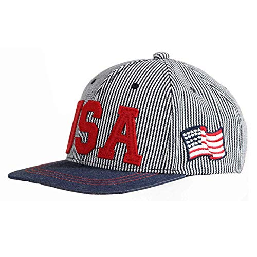 Uphily Kinder Baseballmütze Amerikanische Flagge USA Hip-Hop Snapback verstellbare...