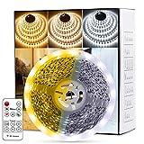 Fortand Tiras LED, Luces LED Lámpara de Tricolor Tira 10m, 2835 con Control Remoto RF, Para la Habitación Dormitorio...