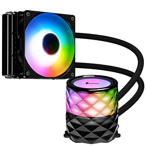 Enfriador de CPU líquido, Jonsbo TW3-120, Ventilador con Velocidad PWM Ajustable, Plataformas Intel y AMD AM4