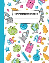 Composition Notebook: Back to School Colorful Trendy Design Wide Ruled Notebook Journal
