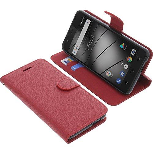 foto-kontor Tasche kompatibel mit Gigaset GS270 / GS270 Plus Book Style rot Schutz Hülle Buch
