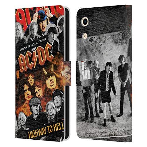 Head Hülle Designs Offizielle AC/DC ACDC Gruppe Collage Leder Brieftaschen Handyhülle Hülle Huelle kompatibel mit Huawei Honor Play 8A