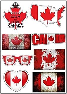 Planche A4 de stickers Canada autocollant adhésif scrapbooking - D20