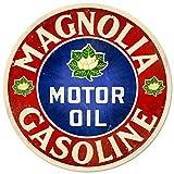 EpochSign Warnschild im Vintage-Stil, Metallschild, Magnolien-Motoröl, 30,5 x 30,5 cm
