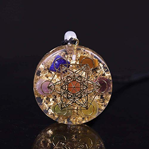 LBBYMX Co.,ltd Necklace Orgone Pendant Rainbow Crystal Stones Chakra Reiki Healing Protection Orgonite Necklace Necklace