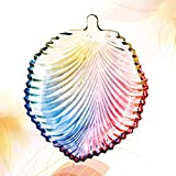 ECSWP Placa de Fruta de Hoja de Cristal Colorida Hoja de Arce de Cristal Pequeño Plato de Plato Adornos de jabón