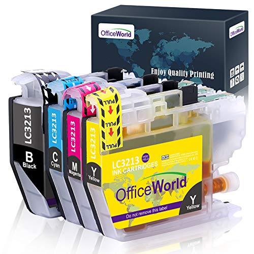 OfficeWorld LC3213 LC3211 Patronen Ersatz für Brother LC-3213 LC-3211 Druckerpatronen Multipack für Brother MFC J491DW J497DW J890DW J895DW, DCP J572DW J772DW J774DW, MFCJ491DW MFCJ497DW MFCJ890DW