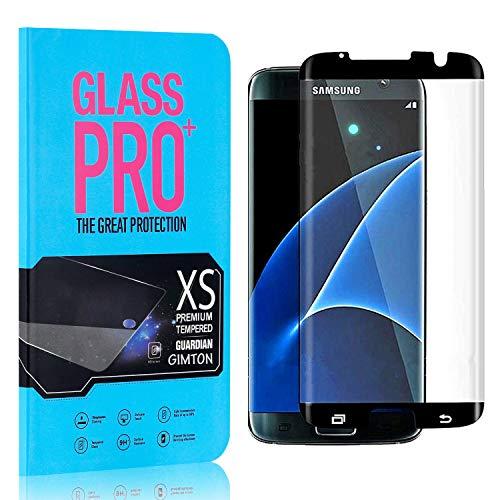 GIMTON Displayschutzfolie für Galaxy S7 Edge, 9H Härte HD Schutzfolie aus Gehärtetem Glas für Samsung Galaxy S7 Edge, Blasenfrei, Anti Fingerabdruck, 4 Stück