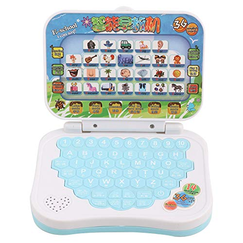 DAUERHAFT Baby Laptop Learning Laptop,Kids Learning Laptop Toy,Baby Kids Children Bilingual Educational Learning Study Toy Laptop Computer Game,for Baby Kids Children Study Education