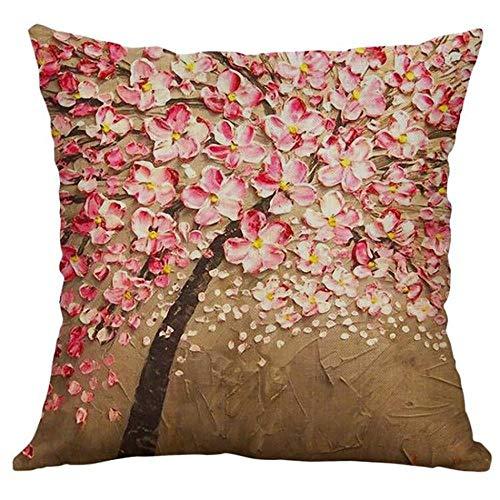 ZHDP Cojines decorativos para sofá almohadas de almohada agradable creativas de lino para decoración del hogar cojines acogedores cojines decorativos-E