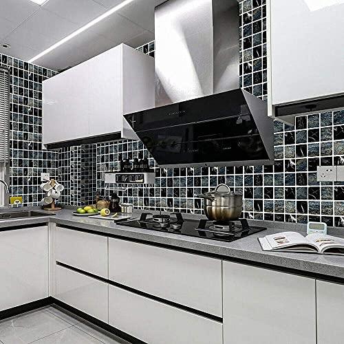 MSC067 - Adhesivo de azulejos de mosaico, 30 unidades, autoadhesivo, azulejos de pared, impermeable, papel para cuarto de baño y cocina (60 unidades de 10 x 10 cm)