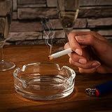 com-four® 4X Aschenbecher aus Glas - klarer Glasaschenbecher für Zigaretten - Ascher für Privat und Gastronomie (004 Stück - Ø 11 cm x 3.8 cm) - 2