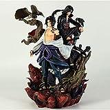 Gddg 35 cm Naruto Anime Figuras Bondage Love and HASS Uchiha Sasuke Itachi Big Wave Super Big Premiu...
