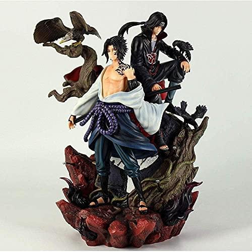 Gddg 35 cm Naruto Anime Figuras Bondage Love and HASS Uchiha Sasuke Itachi Big Wave Super Big Premium Edition Sculpture Decoration Decoration Statue Figura Modelo Modelo Modelo Juguete