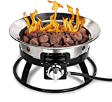 Stainless Steel Portable Propane Gas Fire Pit - 19 inch Stainless...