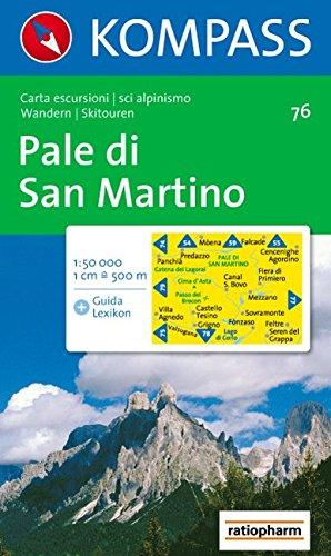 Pale di San Martino: Wander- und Skitourenkarte. Carta escursioni e sci alpinismo. 1:50.000