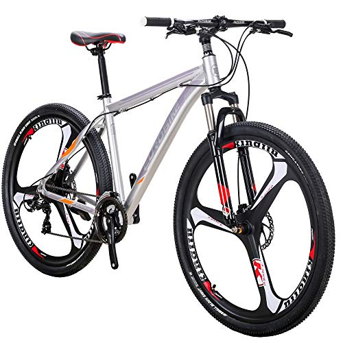 Eurobike 29in X9 3 Spoke Mountain Bike 21 Speed (Silver)
